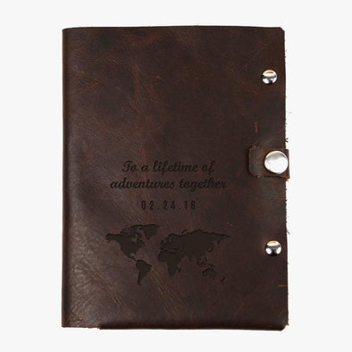 Lifetime Adventure Custom Genuine Leather Passport Holder.