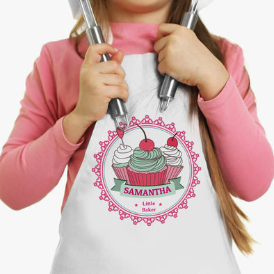 Exclusive Sale - Little Cherry Cupcakes Custom Kids Apron