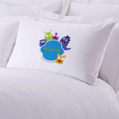Little Monster Personalized Kids Sleeping Pillowcase