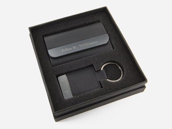 Exclusive Sale | Personalized Boxview Card Case and Key Chain Gift Set.