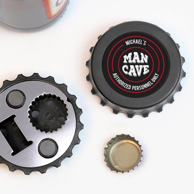 Exclusive Sale - Man Cave Custom Magnetic Bottle-Cap Shaped Bottle Opener