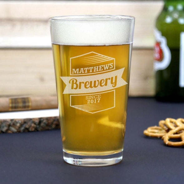 Personal Brewery Beer Pint Glass Customize