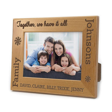 Together We Have It All Personalized Picture Frame.