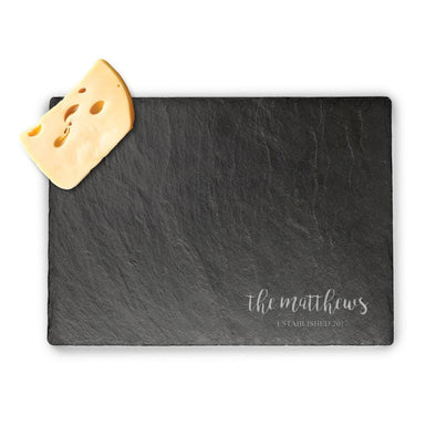 Personalized Established Slate Serving Board | Custom Cheese Board