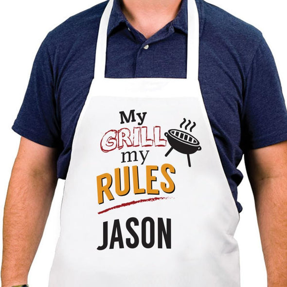 My Grill My Rules Personalized Apron.