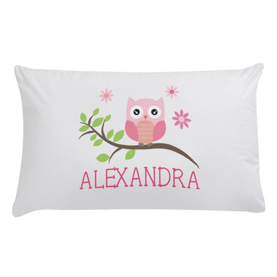 Personalized Cute Owl Sleeping Pillowcase.