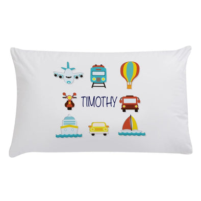 Personalized Transportation Kids Sleeping Pillowcase