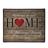 Welcome to Our Home Doormat Personalized