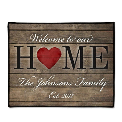 Welcome to Our Home Doormat Personalized.