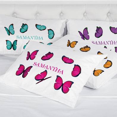 Butterfly Personalized Sleeping Pillowcase.