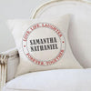 Welcome Personalized Decorative Canvas Throw Pillow Case Cover.