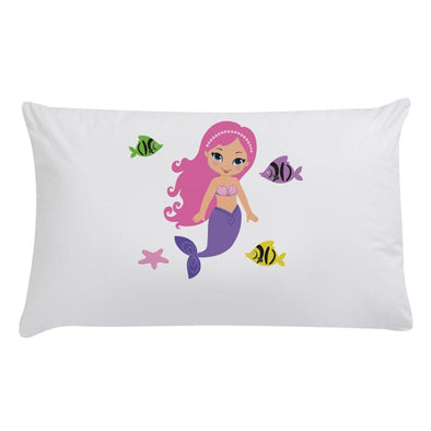 Personalized Kids Mermaid Sleeping Pillowcase.