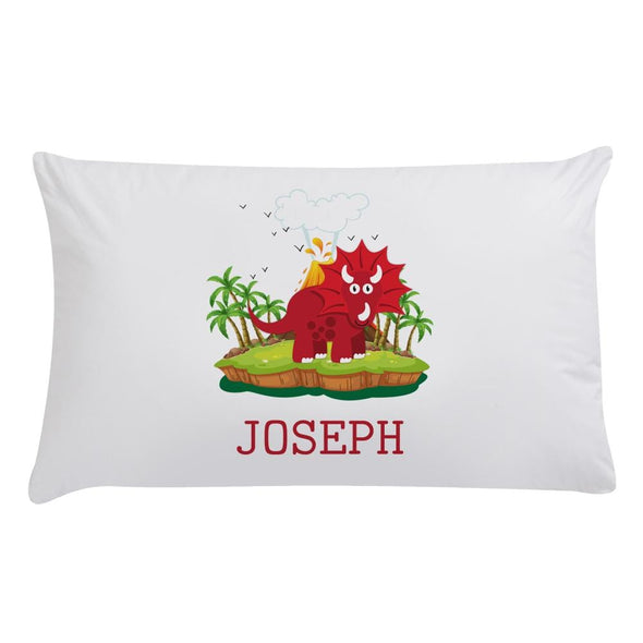 Custom Kids Triceratops Dinosaur Sleeping Pillowcase