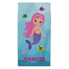 Mermaid Personalized Mini Beach Towel for Kids