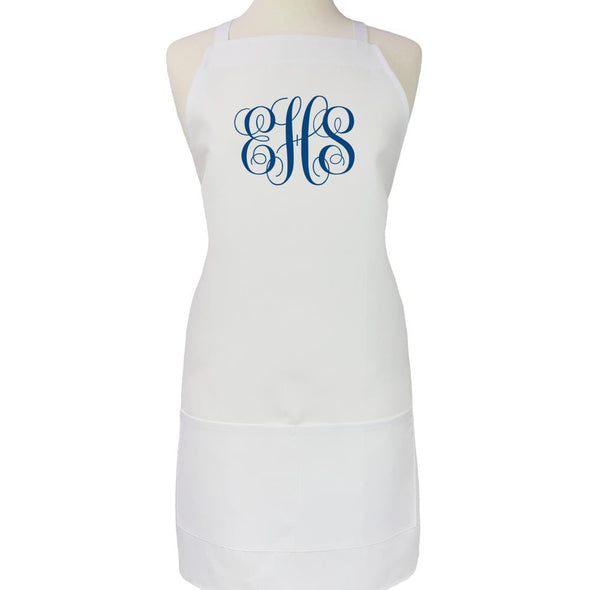 Script Monogram Personalized Adult Apron.