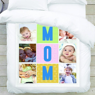 MOM Photo Blanket with 6 pictures