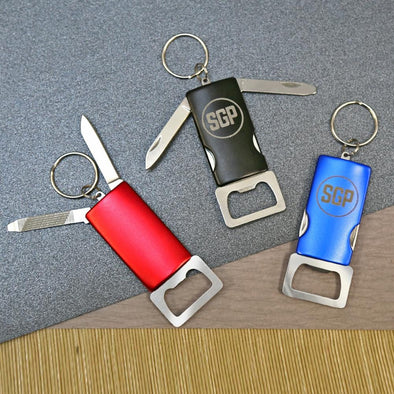 Personalized Bottle Opener with Key Chain.