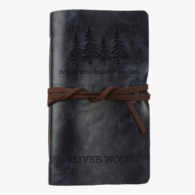 Exclusive Sale | Not All Who Wander Are Lost Custom Leather-Bound Mini Journal.