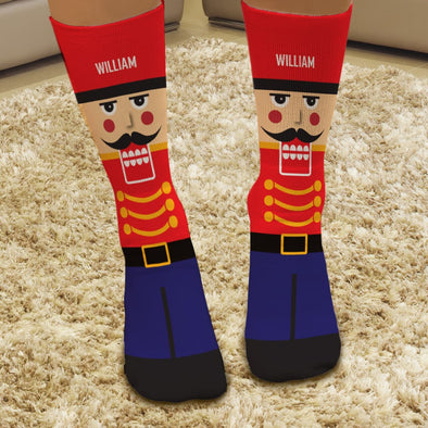 Exclusive Sale - Nutcracker Personalized Christmas Tube Socks.