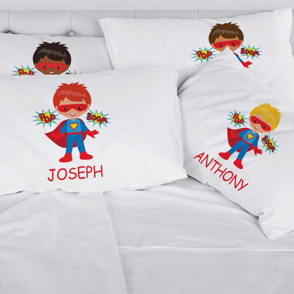 Exclusive Sale | Personalized Kids Character Super Hero Sleeping Pillowcase.