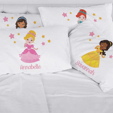 Exclusive Sale - Personalized Kids Princess Character Sleeping Pillowcase.