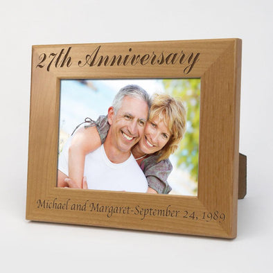 Exclusive Sale - Personalized Anniversary Wood Picture Frame.