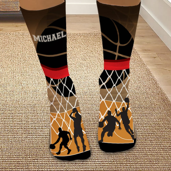 Exclusive Sale - Personalized Basketball Tube Socks.