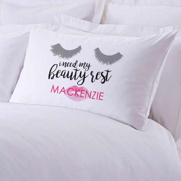 Personalized Beauty Rest Sleeping Pillowcase.