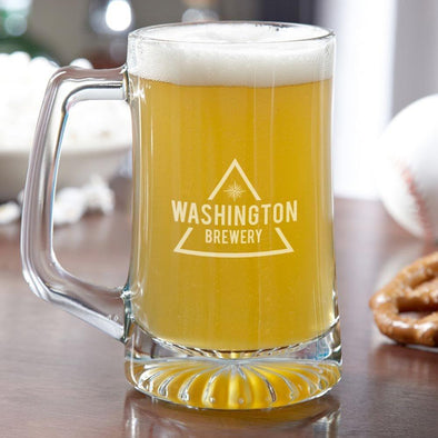 Personalized Brewery Beer Mug 25 Oz