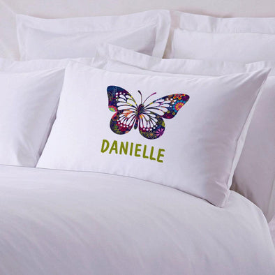 Personalized Butterfly Sleeping Pillowcase.