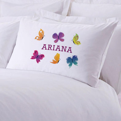 Personalized Butterfly Sleeping Pillowcase | Custom Pillow for Kids