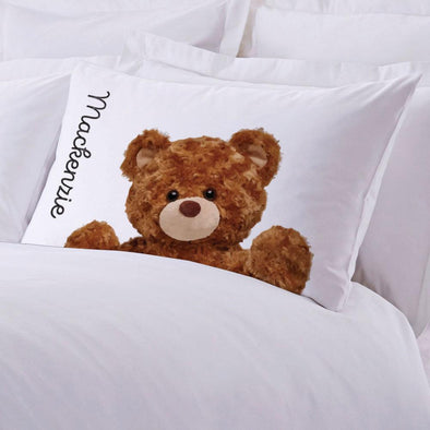 Personalized Caring Teddy Bear Sleeping Pillowcase