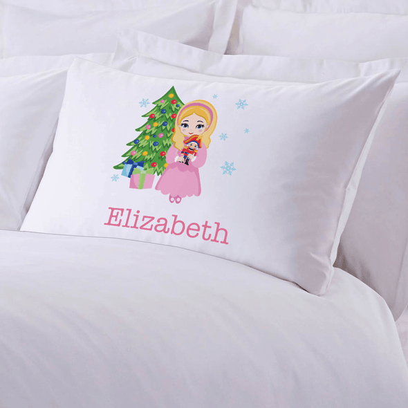Personalized Character Christmas Kids Sleeping Pillowcase.