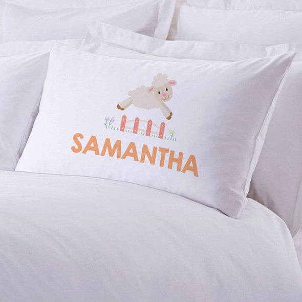Personalized Counting Sheep Sleeping Pillowcase.