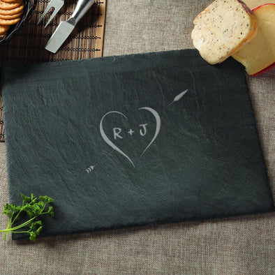 Personalized Couples Cheese Slate Serving Board