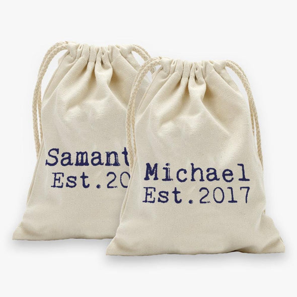 Personalized Established Drawstring Sack.