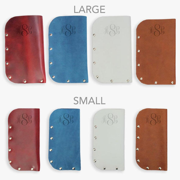 Personalized Genuine Leather Eyeglass Case.