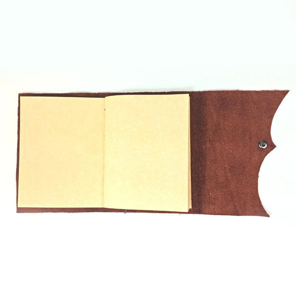 Personalized Genuine Writing Journal with Snap Closure - Medium