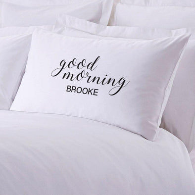 Personalized Good Morning Sleeping Pillowcase