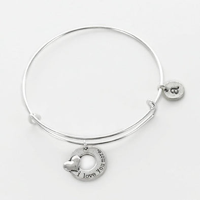 Personalized I Love You More Charm Bangle.