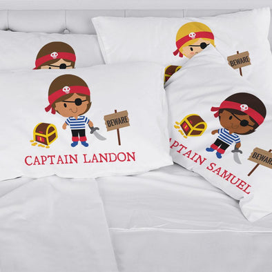 Personalized Kids Pirate Sleeping Pillowcase | Custom Pillow for Kids.