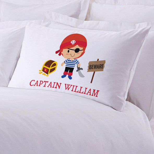 Personalized Kids Pirate Sleeping Pillowcase | Custom Pillow for Kids