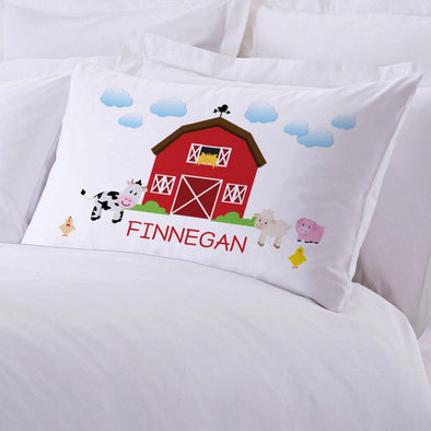 Personalized Kids Farm House Sleeping Pillowcase.