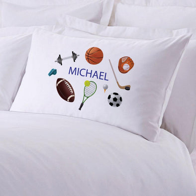 Personalized Kids Name Sports Sleeping Pillowcase.