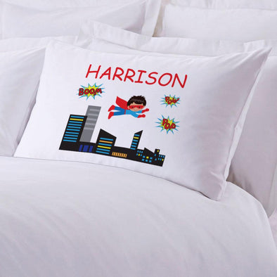 Personalized Kids Superboy Sleeping Pillowcase.