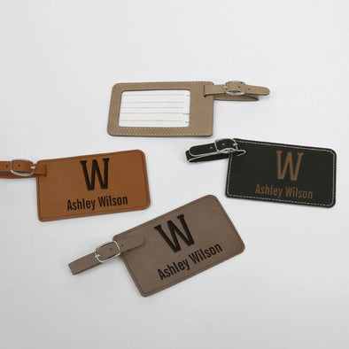 Personalized Leatherette Luggage Tag.