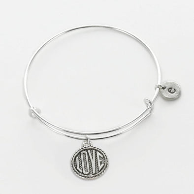Personalized Love Charm Bangle.