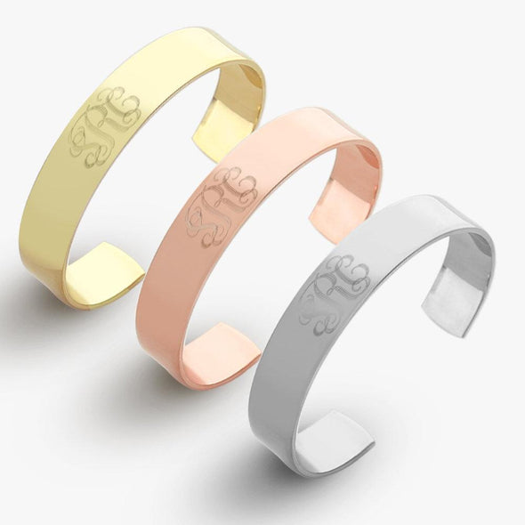 Personalized Monogram Cuff