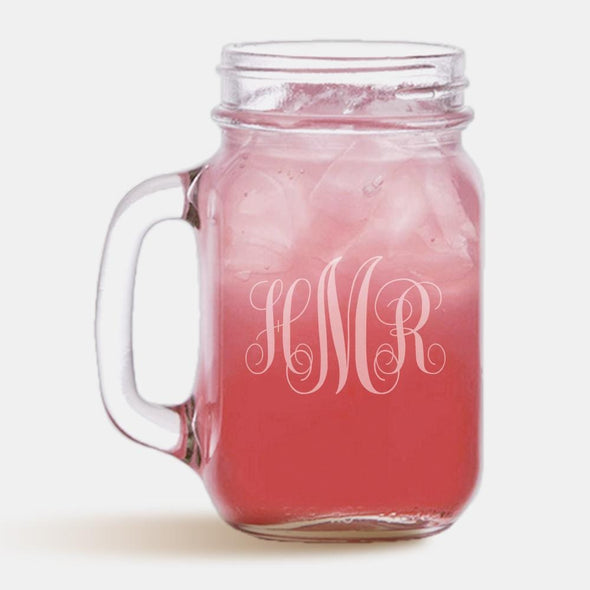 Exclusive Sale - Personalized Monogram Initial Mason Jar.