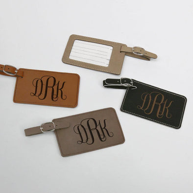 Personalized Monogram Leatherette Luggage Tag